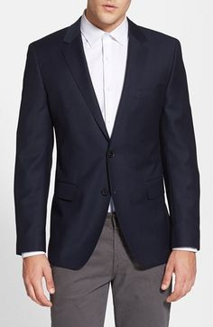 Free shipping and returns on BOSS HUGO BOSS 'James' Trim Fit Wool Blazer at Nordstrom.com. Fine virgin wool forms a classic blazer cast in a timeless two-button, notch-lapel cut.