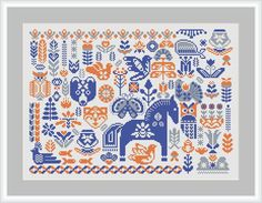 Hygge Forest sampler for cross stitch pattern - cozy ornament Folk Forest animals - Baby shower room decor pdf - Hygge Forest sampler cross stitch pattern Folk Forest Cross Stitch Sampler Patterns, Geek Cross Stitch, Cross Stitch Freebies, Cross Stitch Borders, Cross Stitch Alphabet, Simple Cross Stitch, Cross Stitch Samplers, Cross Stitch Animals, Modern Cross Stitch Patterns