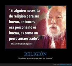 """if anyone need religion to be good, then this person is not good, this person is like a trained dog"" Motivational Phrases, Inspirational Quotes, Clara Berry, Carl Sagan, Yoga, Osho, Atheism, Spanish Quotes, Be A Better Person"