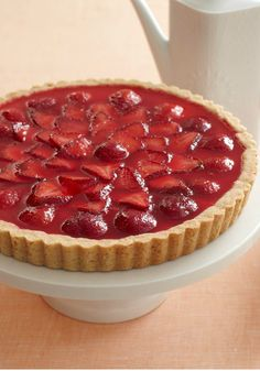 Glazed Strawberry Tart – Not only is this sweet topping a delectable counterpoint to the strawberries' tang, it's also super easy to prepare!