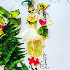 〰 South Pacific 〰 ~ #SomeFlowerGirls #tropical #fashionillustration ~ #flowers @royaldavuifiji