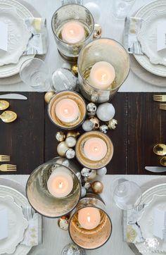 Kelley Nan: Simple Snowflake Christmas Dinner Tablescape