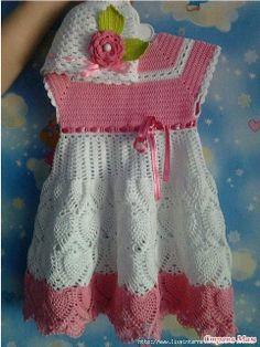 crochelinhasagulhas: Vestido de crochê para meninas II                                                                                                                                                                                 Mais
