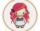 ALIETTE: a pixel art counted cross stitch pattern - digital download - printable pdf file