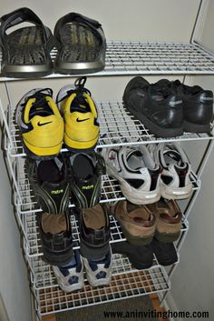 shoe rack colombage vertical iu0027ll use this kind of form made of wood opposite direction and with springs to tuck out of the way