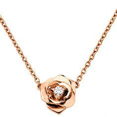 Piaget rose gold necklace