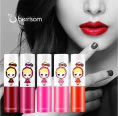 Berrisom Long Lasting Color Lip Tattoo Tint 5 Color #Berrisom