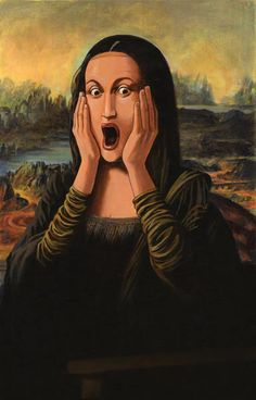 "Edvard Munch - ""The Scream"" Mona Le Cri Edvard Munch, Le Cri Munch, Scream Parody, Scream Art, Lisa Gherardini, Bd Pop Art, Mona Lisa Smile, La Madone, Mona Lisa Parody"