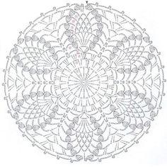 Small round pineapple coaster Napkin I crocheted from cotton thread crochet Koral no. 15 I used crochet needle no. Crochet Doily Diagram, Crochet Stitches Patterns, Crochet Chart, Thread Crochet, Crochet Doilies, Free Crochet, Crochet Circles, Crochet Round, Crochet Home