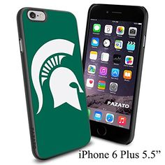 """NCAA MICHIGAN STATE UNIVERSITY LOGO , Cool iPhone 6 Plus (6+ , 5.5"""") Smartphone Case Cover Collector iphone TPU Rubber Case Black Phoneaholic http://www.amazon.com/dp/B00VVQTVES/ref=cm_sw_r_pi_dp_C0Knvb0N6N2AH"""