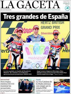 Los Titulares y Portadas de Noticias Destacadas Españolas del 2 de Septiembre de 2013 del Diario La Gaceta de los Negocios ¿Que le pareció esta Portada de este Diario Español?