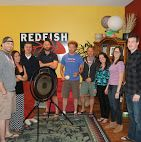 The rituals of recruiting - celebrating placements in exciting high tech companies, Redfish Technology bangs the gong!-  More photos on Google+ https://plus.google.com/photos/+Redfishtech/albums/5821530477823120337