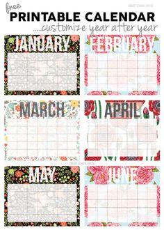 50+ 2017 FREE printable calendars - Lolly Jane