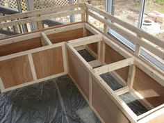 DIY bench w/ storage/// need for outside deck when it's done!
