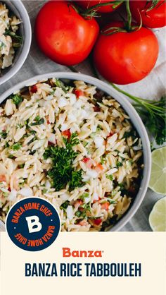Save Print Banza Rice Tabbouleh This recipe is brought to us by Alisandra at Ingredients cups Banza Chickpea Rice, previously cooked 1 cup fresh flat-leaf parsley, f… Easy Rice Recipes, Pasta Recipes, Gourmet Recipes, Healthy Recipes, Middle Eastern Recipes, Rice Bowls, Fresh Mint, Food Print