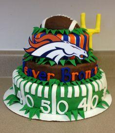 Very Clever Denver Broncos Football Cake CynthiaCoffmanForAG Cynthiacoffmanforag