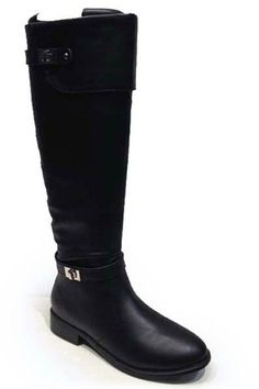Asiana-81 Knee-High Boot in Black