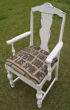 A Diamond in the Stuff: Burlap {Coffee Sack} Chair