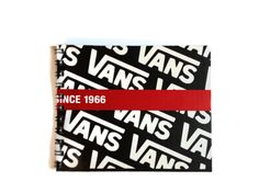 VANS notebook reworked shoe box Free UK Postage 70 plain pages recycled gift idea - pinned by pin4etsy.com