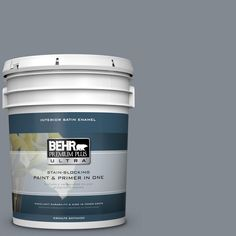 BEHR Premium Plus Ultra 5 gal. #PPU26-21 Overcast Satin Enamel Interior Paint