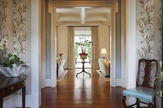 Foyer at home in Columbia, SC.  Interior Designer: Beaty and Brown