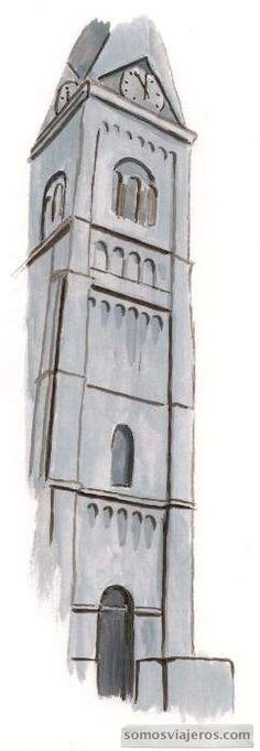 dibujo acuarela iglesia sint remacle spa valonia