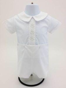 Auraluz Christening Button-On Short Set White 557