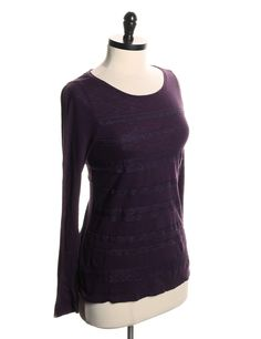 Purple ann taylor LS layered shirt