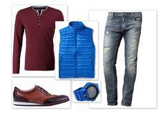 O marsali było już dużo w tym sezonie. Jak dla mnie, idealnie pasuje do jeansu i niebieskich dodatków. Zestaw: T-Shirt: EDC Kamizelka: Patagonia Jeansy: Jack&Jones Buty: #Conhpol Dynamic Zegarek: Casio