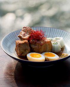 Nagasaki-style red-braised pork belly (buta kakuni)