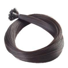 Straight Nail Human Remy Hair Extensions #2 Dark Brown Pre Bonded Hair Extensions, Fusion Hair Extensions, Human Hair Extensions, Remy Human Hair, Dark Brown, Curls, Nail, Hair Extensions, Nails