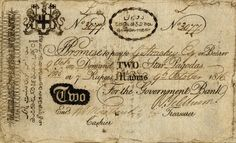 RARE @INDIAN NOTE ISSUED BY #BANK OF MADRAS OF #2 STAR PAGODAS