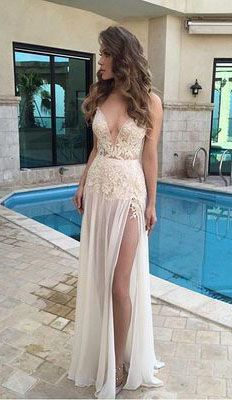 Sexy Prom Dress,V Neck Chiffon Prom Dress, Long Prom Dress, Formal Evening Dress Split Prom Dresses, V Neck Prom Dresses, Prom Party Dresses, Formal Evening Dresses, Homecoming Dresses, Sexy Dresses, Evening Gowns, Wedding Dresses, Dress Party