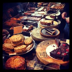 Beautiful cakes at Borough Market - @pieceof3_14 Instagram