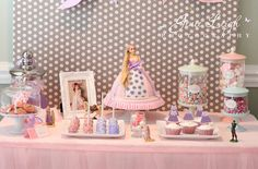 Tangled Birthday Party via Kara's Party Ideas Tangled Birthday Party, 3rd Birthday Parties, Birthday Ideas, 2nd Birthday, Princess Tea Party, Princess Birthday, Princess Theme, Party Ideas For Teen Girls, Disney Tangled