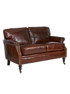 The Belgrave Leather Two Seat Sofa Is Made From Top Grain Leather And Has  Brass Stud