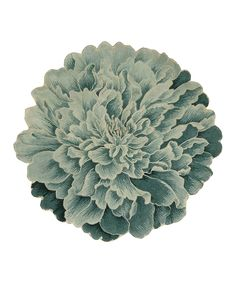 Nourison Teal Bloom Wool Rug   zulily
