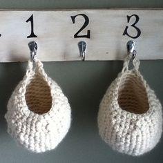 Patrón Cestas de trapillo a crochet