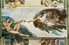 Michelangelo Buonarroti - Die Erschaffung Adams