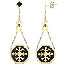 HERTUSHI. These earrings has been inspired by a floral ornament  found as a filler motif in Azerbaijani carpets.  This  ornament is attributed to Kurdish Herki tribe or Hartushi tribes in Anatolia.* The earrings are also decorated with an interpreration of birds head motif.
