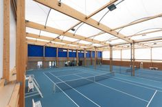 Covered tennis courts construction