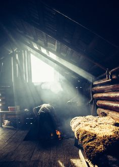 The life of a shepherd in his Romanian mountain Cabin.