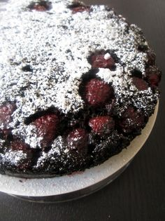This is Dark Chocolate Raspberry upside-down cake. It has 2 of my favorite things, dark chocolate and raspberries. Will I ever make it? Im not sure, its from a website called Abitious Kitchen, so Im not sure my cooking skills are good enough.