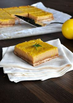 Fed & Fit » Paleo Lemon Bars