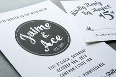 Veda Modern Bold Wedding Invitation by OnelevenCreative on Etsy