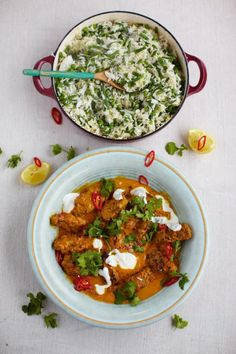 Beef kofta curry with rice, beans and peas - Jamie Oliver