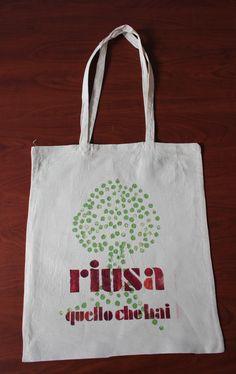 bag o2italia Shopper Bag, Bago, Reusable Tote Bags, Homemade, Home Made, Diy