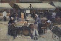 Floris Arntzenius (1864-1925) - Market day in The Hague