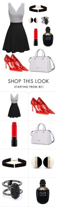 """""""Untitled #118"""" by rozlynjanine ❤ liked on Polyvore featuring Christian Dior, MAC Cosmetics, Anissa Kermiche, Kendra Scott and Alexander McQueen"""
