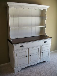 White Farmhouse Hutch